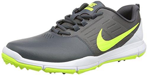 Nike Herren Explorer Lea Golfschuhe, Grau (Dark Grey/Volt/White), 47.5 EU