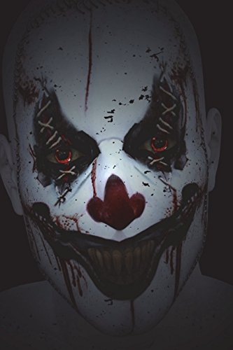 Evil Clown: 6x9 Journal - Lined Paper - 150 Pages, Creepy & Freaky Scary Halloween Notebook