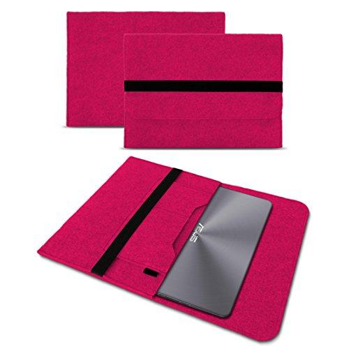 Deluxe Leder-notebook (UC-Express Sleeve Hülle kompatibel für Asus ZenBook 3 Deluxe Tasche Filz Notebook Cover 14 Zoll Laptop Case Schutzhülle, Farbe:Pink)