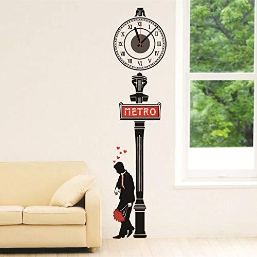 Kreative Roman Digital Clock Aufkleber Großhandel Subway Gentleman Diy Kombination Aufkleber Hintergrund Wand Dekoration