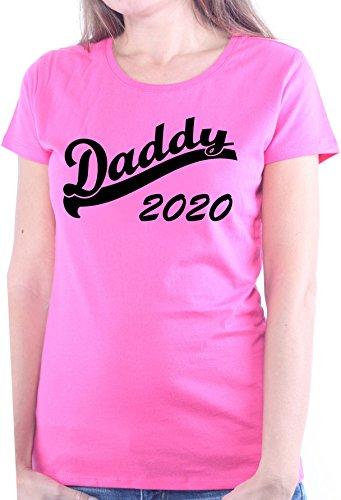 Mister Merchandise Ladies Damen Frauen T-Shirt Daddy 2020 Tee Mädchen bedruckt Pink