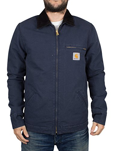 Carhartt WIP Uomo Detroit Logo Jacket, Blu, Small