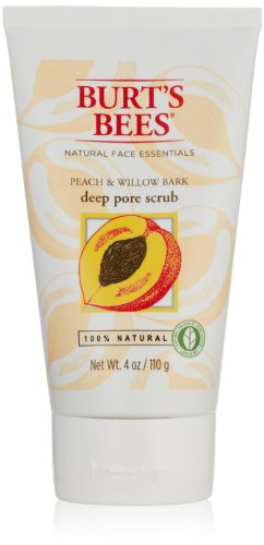 Burt's Bees Peach and Willowbark Deep Pore Scrub, 4 Ounces (Pack of 2) by Burt's Bees (Burts Bees Peeling)