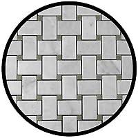 Carrara Marble Italian White bianco Carrera Basketweave Mosaic tile with