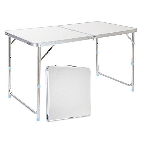Finether Aluminium Klapptisch Campingtisch Gartentisch Campingmöbel Camp Active Falttisch Reisetisch Picknicktisch120cmx70cmx60cm