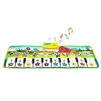 SANLINKEE Piano Mat for Kids, Music Mats Touch Play Musical Carpet Piano Floor Mat