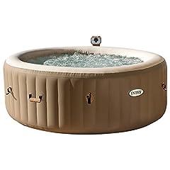 Idea Regalo - Intex 28404 Pure Spa Bubble Therapy con Pompa, 795 litri, Riscaldatore e Sistema Purificazione Acqua, 216x 71 cm