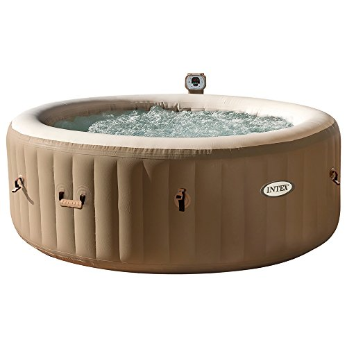 Intex 28404EX - Spa hinchable burbujas, color crema, 4 personas 795 litros