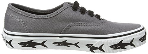 Vans Unisex-Kinder Authentic Low-Top Grau (Sidewall sharks/tornado)