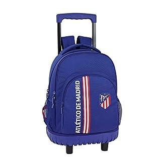 Atlético de Madrid «In Blue» Oficial Mochila Escolar Grande Con Ruedas 320x140x460mm