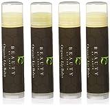 Lip Balm : Lippenbalsam 4er-Pack Natürlicher Lippenbalsam mit Bienenwachs; Exotische Geschmack (Grüner Tee, asiatische Birne, Granatapfel und Acai Berry flavors) Made in USA by Beauty by Earth.