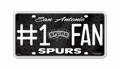 Rico NBA San Antonio Spurs #1 Fan Metal License Plate Tag