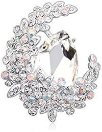 1614a5c19eff Moda Elegante De La Boda De Diamante Bufanda De Diamantes De Imitación De  Agujas Novia Broche