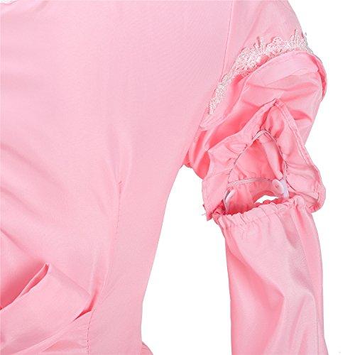 LATH.PIN Damen Cosplay Kostuem Lolita gotische Kleider Abendkleider Partykleid Stubenmädchen Dienstmädchen Outfit Putzfrauen Damen Karneval Fasching (Onesize, Schwarz IT) Rosa