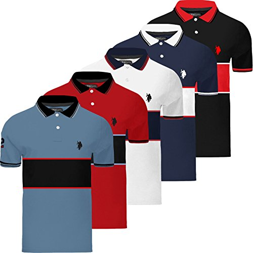 Mens US Polo Assn Polo T-Shirt Shirt Short Sleeve Genuine Small Pony Top Horse