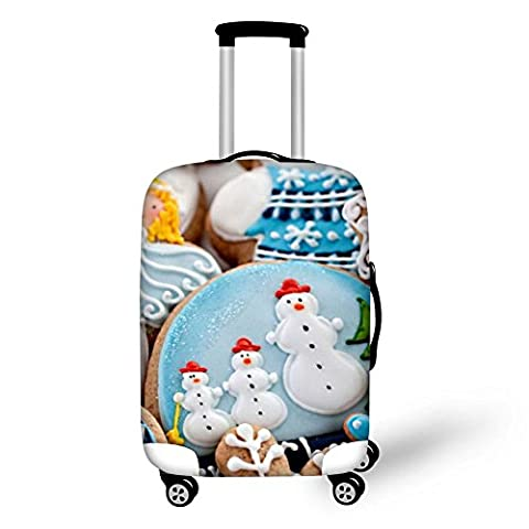 Travel Luggage Cover Christmas 3D Cartoon Printing Wear-resisting Elastic force Thickening Suitcase Protective Dustproof Cover Fits 18-28 inch , 13 ,