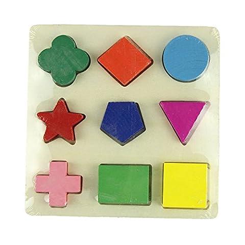 Ouneed® Jeux Casse-tête Puzzle Géométrie pour Enfant Bebe (A)