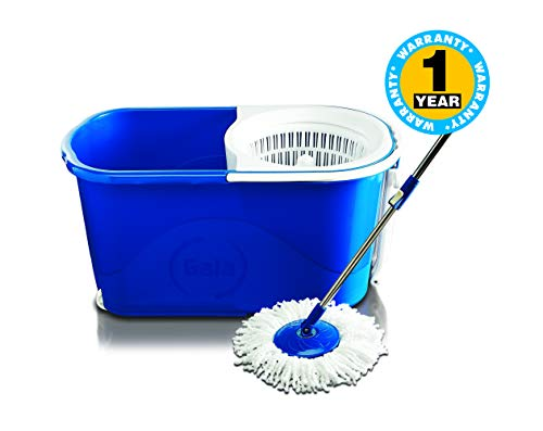Gala Spin mop with easy wheels and bucket for magic 360 degree cleaning (with 2 refills)