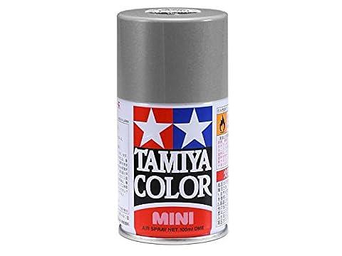 Tamiya TS17 :Peinture TS17 aluminium brillant - en bombe aérosol de 100ml