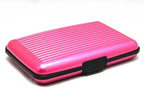 Kreditkartenetui Aluminium, RFID Kreditkarten Schutz Etui - Rosa