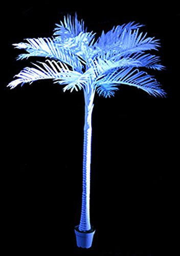 Knut Odegaard - Party Deko Kokospalme, Kunstpflanze im white Lounge-Stil, Höhe 280 cm, Weiß