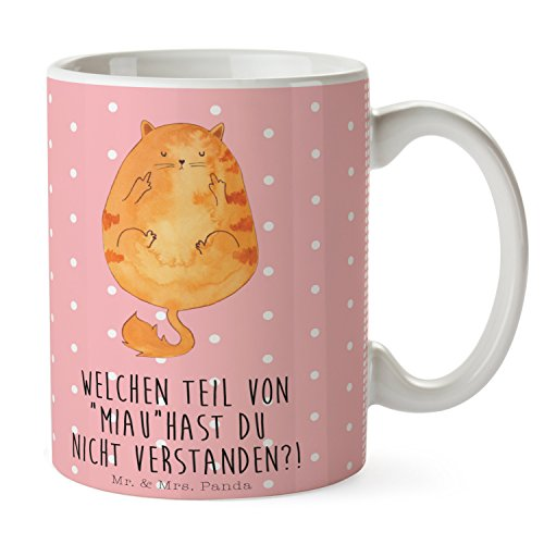 Mr. & Mrs. Panda Tasse Katze Mittelfinger - 100% handmade in Norddeutschland - Kaffeetasse, Becher,...