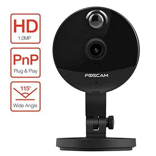 Foscam C1, HD 1 Megapixel lente 2.8mm 115° P2P Wireless con MicroSD 4GB inclusa