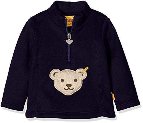 Steiff Baby-Mädchen 1/1 Arm Fleece Sweatshirt, Blau (Marine|Blue 3032), 86 Baby-fleece-sweatshirt