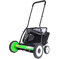 HJJH Push Lawn Mower, 20 Pulgadas Manual Reel Mower con Grass Catcher