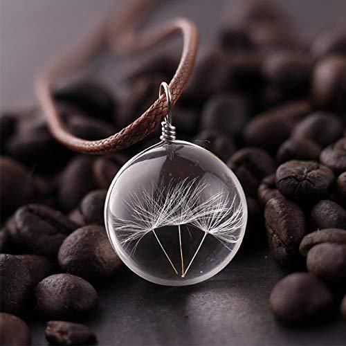 Pusteblume Kristall-Anhänger mit Kordel zur Schmuckherstellung, Weihnachtsgeschenk, Halskette für Mädchen, 3 Stück