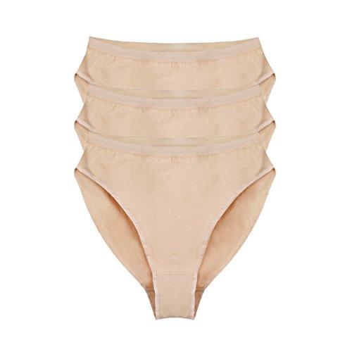 Bezioner Ballett Dance Slip Panty Tanzen Unterwäsche 3er Pack Beige Für Kinder und Erwachsene Beige Kinder 140cm