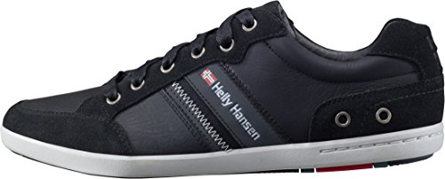 Helly Hansen Kordel Leather, Baskets Basses Homme Noir - Schwarz (Black / EBONY / Red / ash 990)