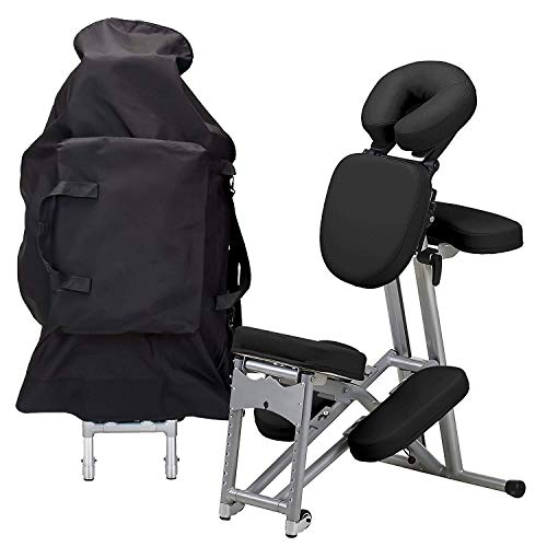 Deluxe Faltbare Tattoo Spa Stuhl Salon Möbel leichte tragbare Moderne Faltbare Massage Tattoo Beauty Stuhl Leder schwarz -