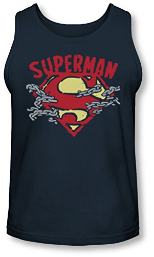 Superman - Herren-Kettenabbruch Tank-Top Navy
