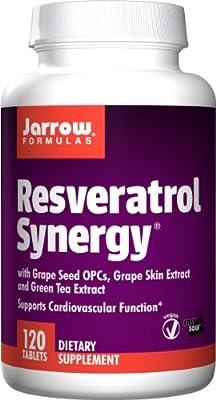 Jarrow Resveratrol Synergy, 120 Easy-Solv Tablets by Jarrow Formulas