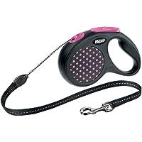Flexi Roll-Leine Design, Seil 5 m für Hunde bis Maximal 12 kg, S, pink