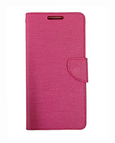 Celson Flip Cover For Micromax Canvas Spark 2 Plus (Q350) Flip Cover Case - Pink