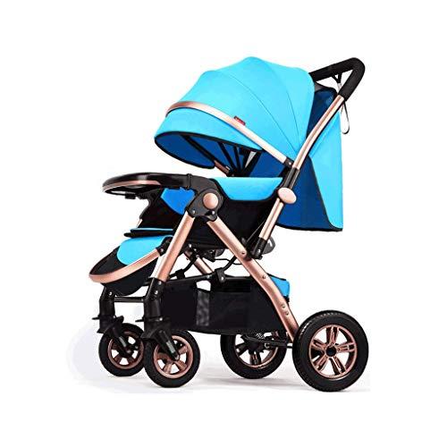 LXP Passeggino Passeggino Da Jogging Pieghevole, Passeggino Leggero, Sistema Di Viaggio Per Bambini Con Ampio Cestino Portaoggetti, Sedile Reclinabile Multi-angolo, 6 Colori Passeggino multifunzione