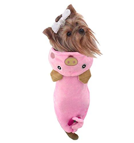 Niedliche Halloween Für Kostüme Haustiere (Yuncai Niedlich Schwein Halloween Cosplay Haustier Hund Verkleidung Kleidung Lustige Party Kostüm für Katzen Pink)
