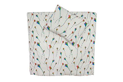 2Tlg. Babybettwäsche 100% Bio-Baumwolle GOTS 6 Farben Kinderbettwäsche Bettbezug Bettwäsche Jersey 100x135cm (100x135-40x60cm Flugdrachen Gewirkt)