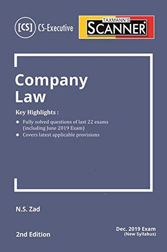 Scanner-Company Law (CS-Executive) (Dec 2019 Exam-New Syllabus)(2nd Edition June 2019)