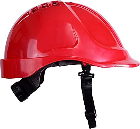 UCI HPV/A5/WR Safety Vented Helmet Hard Hat Premium ABS Various Colours (Red)