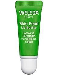 WELEDA Skin Food Lip Butter, Naturkosmetik Lippenpflege aus Bienenwachs & Sonnenblumenöl bei trockenen Lippen, macht spröde Lippen weich und zart (1 x 8 ml)