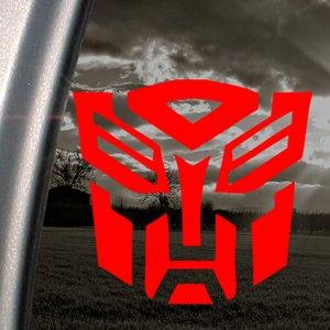 Decalcomania con Logo Transformers-Autobot, per finestra, colore: rosso