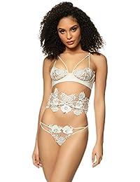 5e024534e9a Ann Summers Womens Tamara Bra Faux Leather Underband Sexy Lingerie Underwear