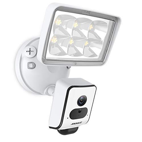 ANNKE Spotlight Cam WLAN | 1080P Überwachungskamera außen Sicherheitskamera mit LED Licht, Sirene und Gegensprechfunktion, AI Detection, Cloud-Speicher Kamera-speicher