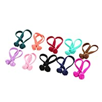 Haodou Multicolor Elastics Hair Ties Bobbles Bow Rhinestone Ponytail Holders Rubber Bands Stretchy Hair Ropes Hair Bands Hair Accessories for Women Girls Kids Men