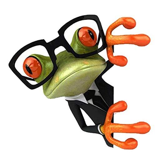 NBKLS Wandtattoos 1 Stücke Mode-Stil 3D Brille Frosch Lustige Auto Aufkleber LKW Fenster Aufkleber Grafiken Aufkleber Für Auto Autocollant Wandbild