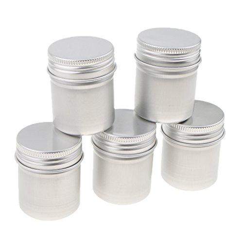 5x50 ML Leere Kosmetische Topf Jar Zinn Container Silber Box Fall Schraube - Schuh-creme Jar