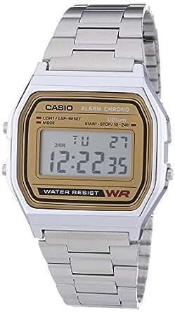 Casio Herren-Armbanduhr Digital Quarz Edelstahl A158WEA-9EF